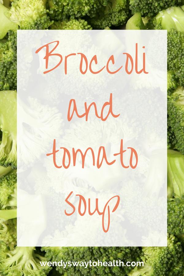 Delicious, nutritious broccoli and tomato soup