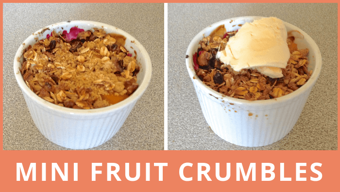 Mini fruit crumbles