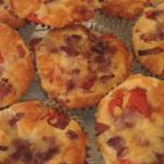 Healthier savoury cheese & bacon muffins blog header image