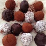 chocolate truffles on baking paper 4