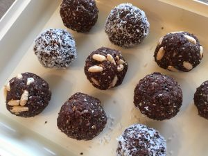 choc vanilla bliss balls in a slice tin 3