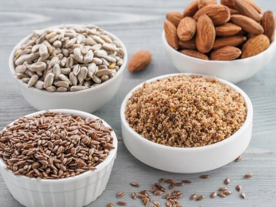 ground almonds and other nuts and seeds in bowls