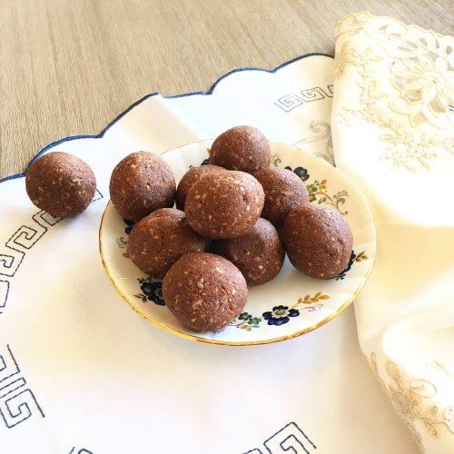jaffa protein balls in a bowl