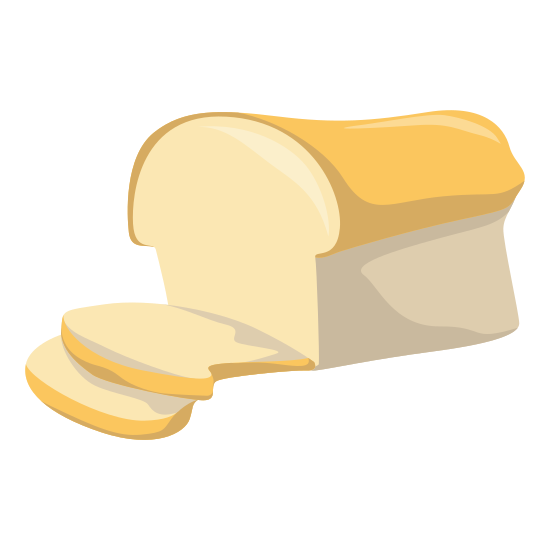 loaf of bread with two slices cut