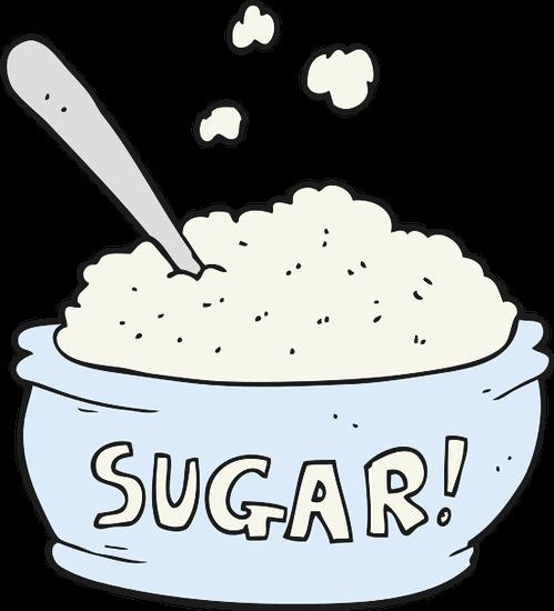 bowl of white sugar