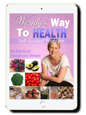 Wendy's Way to Health guide cover displayed on an iPad