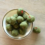 matcha protein balls on a plate 7