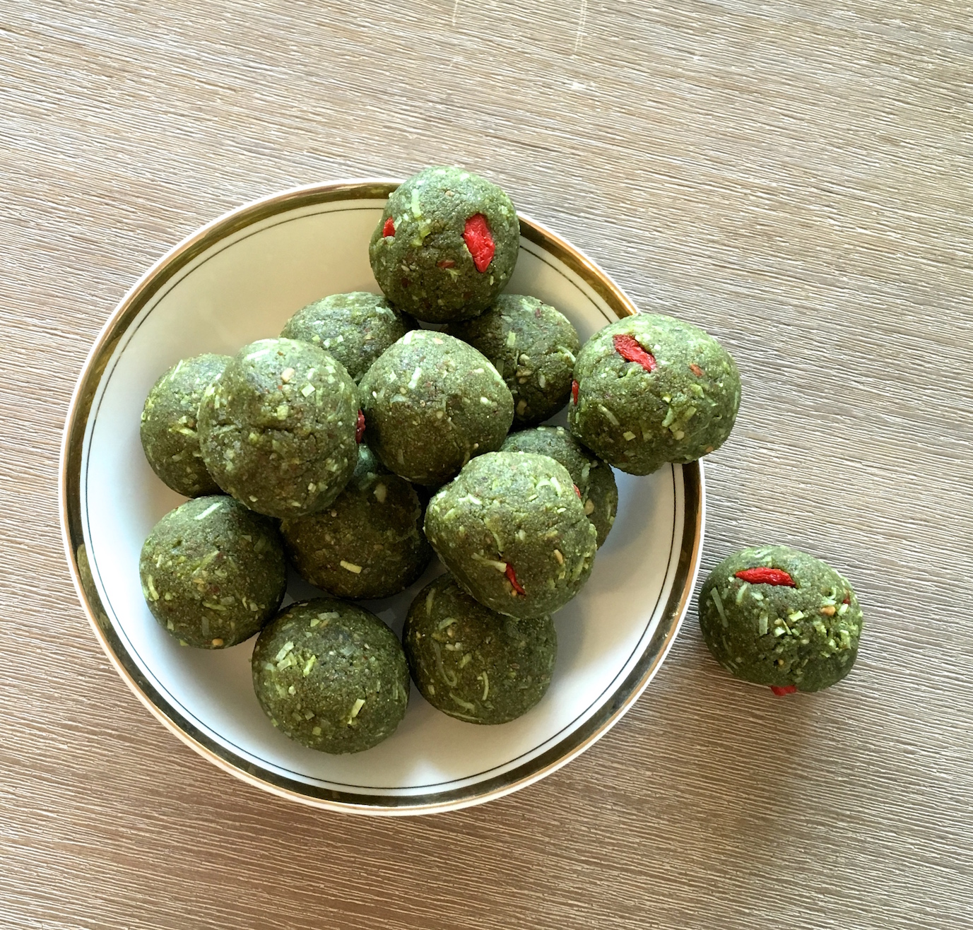 Wendy's Way matcha protein balls