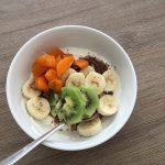 Quick and easy mix in the bowl smoothie