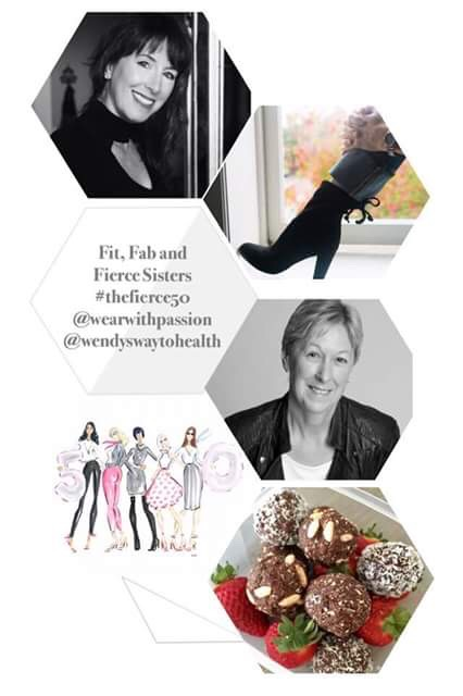 Collage pin of Wendy, Karen, fashion and food
