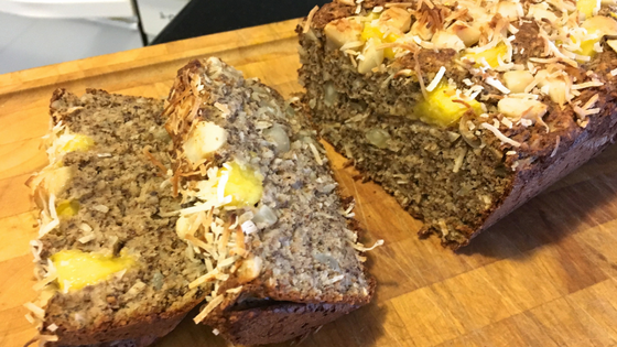 Mango macadamia loaf 1