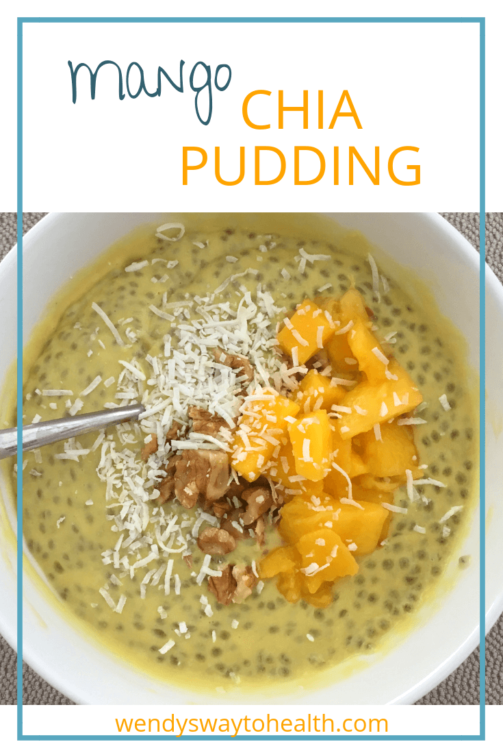 This creamy mango chia pudding from Wendy's Way to Health makes a delicious, healthy breakfast