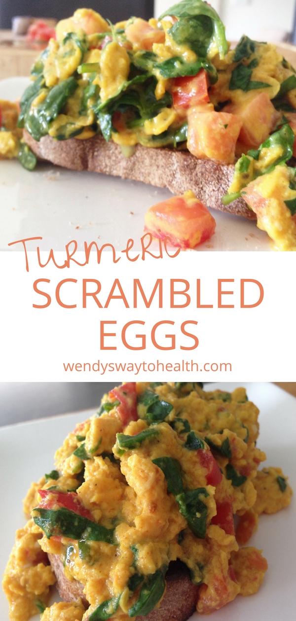 Wendy's Way to Health Turmeric Scrambled Eggs Pin