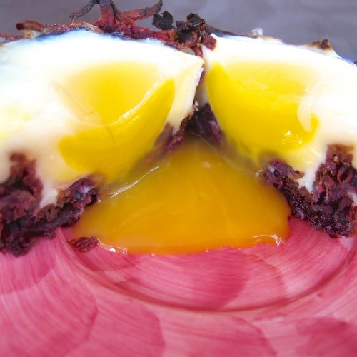 Eggs in sweet potato apple nests
