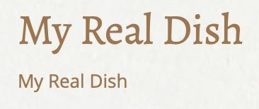 My Real Dish logo
