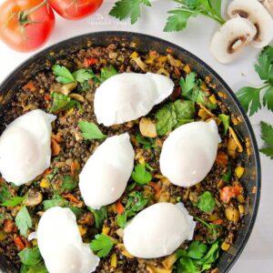 Poached-Eggs-Lentil-Hash