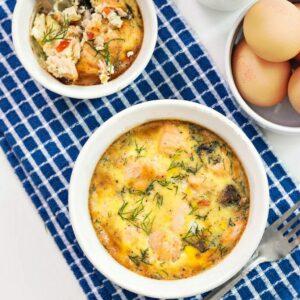 Salmon breakfast bake
