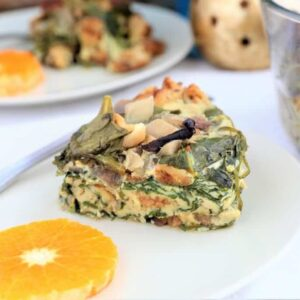 Spinach mushroom breakfast bowl