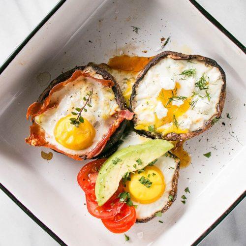portobello mushroom stuffed eggs