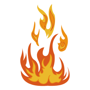 Illustration of a fire burning